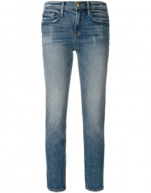 Frame Denim - Cropped Slim-fit Jeans - Women - Cotton/spandex/elastane - 27 afbeelding