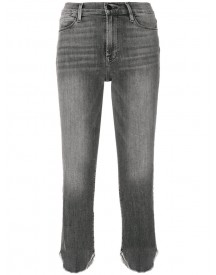 Frame Denim - Curved Cut Cuffs Cropped Jeans - Women - Cotton/polyester/spandex/elastane - 26 afbeelding