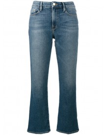 Frame Denim - Flared Cropped Jeans - Women - Cotton/spandex/elastane/modal - 32 afbeelding