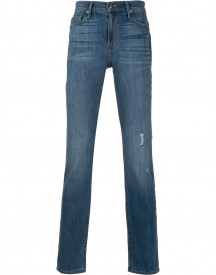 Frame Slim-fit Jeans - Blauw afbeelding