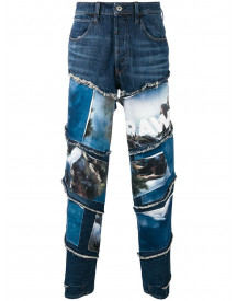 G-star Raw Research Jeans Met Print - Blauw afbeelding