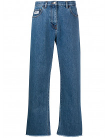 Gcds Cropped Jeans - Blauw afbeelding