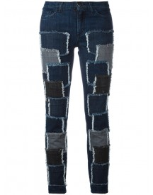 Giamba - Patches Stretched Jeans - Women - Cotton/spandex/elastane - 44 afbeelding