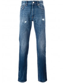 Givenchy - Creased Effect Tapered Jeans - Men - Cotton - 32 afbeelding