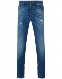 Givenchy - Cuban Fit Distressed Jeans - Men - Cotton/polyester/spandex/elastane - 34 afbeelding