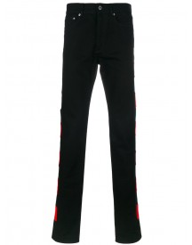 Givenchy - Red Panel Jeans - Men - Cotton - 31 afbeelding