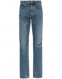 Givenchy Slim-fit Destroyed Denim Jeans - Blauw afbeelding
