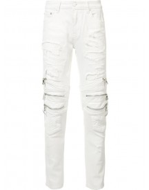 God's Masterful Children - Zipped Ripped Skinny Jeans - Men - Cotton/polyester - 36 afbeelding