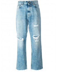 Golden Goose Deluxe Brand - Distressed Straight Jeans - Women - Cotton - 28 afbeelding
