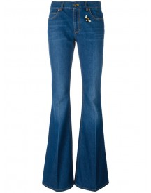 Gucci - Embroidered Flared Denim Jeans - Women - Cotton - 28 afbeelding
