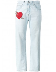 Gucci - Embroidered Heart Jeans - Women - Cotton - 27 afbeelding