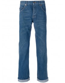 Gucci - Embroidered Tapered Jeans - Men - Cotton - 33 afbeelding