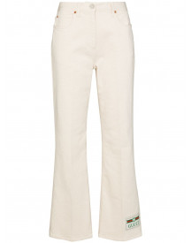 Gucci Flared Jeans - Wit afbeelding