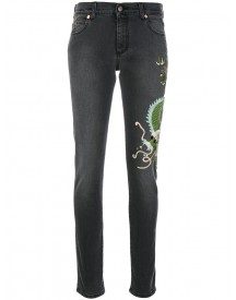 Gucci - Skinny Dragon Jeans - Women - Cotton - 26 afbeelding