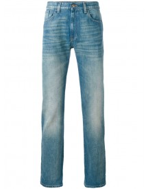 Gucci - Stonewashed Web Jeans - Men - Cotton - 33 afbeelding