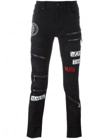 Haculla - Destroyed Effect Skinny Jeans - Men - Cotton/polyester - 38 afbeelding