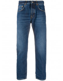 Haikure Lightly Cropped Slim Jeans - Blauw afbeelding