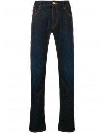 Hand Picked Slim-fit Jeans - Blauw afbeelding
