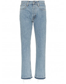 Helmut Lang Blue Mid Rise Straight Leg Jeans - Blauw afbeelding