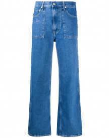 Helmut Lang Cropped Jeans - Blauw afbeelding