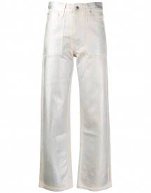 Helmut Lang Metallic Jeans - Wit afbeelding