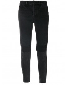 Helmut Lang Patchwork Cropped Jeans - Zwart afbeelding