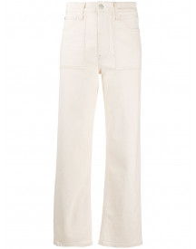 Helmut Lang Straight Jeans - Nude afbeelding