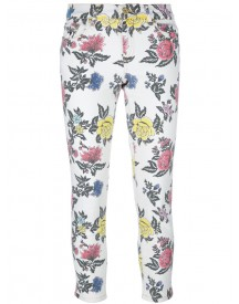 House Of Holland - Roses Print Skinny Jeans - Women - Cotton/spandex/elastane - 12 afbeelding
