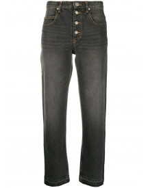 Isabel Marant Étoile Cropped Jeans - Zwart afbeelding