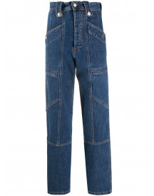 Isabel Marant Étoile High-waisted Denim Trousers - Blauw afbeelding