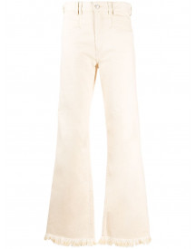 Isabel Marant Flared Jeans - Nude afbeelding