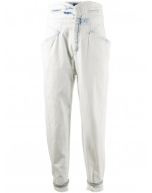 Isabel Marant High Waist Jeans - Wit afbeelding