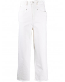 Isabel Marant Cropped Jeans - Wit afbeelding