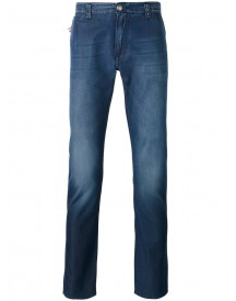 Isaia - Faded Slim Fit Jeans - Men - Cotton - 56 afbeelding