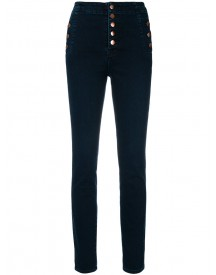 J Brand - Buttoned Skinny Jeans - Women - Cotton/polyurethane - 24 afbeelding