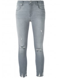 J Brand - Distressed Cropped Jeans - Women - Cotton/polyester/spandex/elastane - 30 afbeelding
