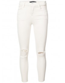J Brand - Distressed Skinny Jeans - Women - Cotton/polyester/spandex/elastane - 31 afbeelding