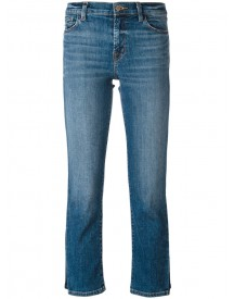 J Brand - Faded Pattern Cropped Jeans - Women - Cotton/polyurethane - 24 afbeelding
