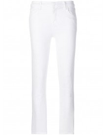 J Brand High Waisted Cropped Jeans - Wit afbeelding