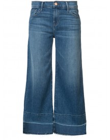 J Brand - Wide-legged Cropped Jeans - Women - Cotton/spandex/elastane - 27 afbeelding