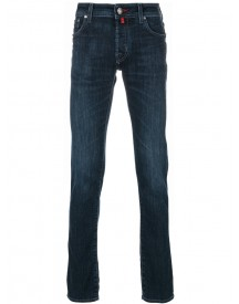 Jacob Cohen - Stonewashed Slim-fit Jeans - Men - Cotton/polyester/spandex/elastane - 33 afbeelding