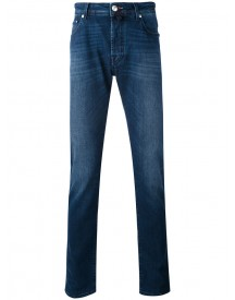 Jacob Cohen - Washed Straight Jeans - Men - Cotton/spandex/elastane - 36 afbeelding