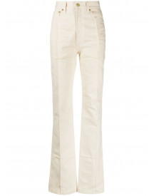 Jacquemus Bootcut Jeans - Nude afbeelding