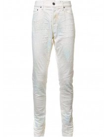 John Elliott Creased Slim-fit Jeans - Wit afbeelding