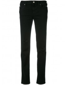 Just Cavalli - Distressed Straight Jeans - Women - Cotton/polyester/spandex/elastane - 26 afbeelding