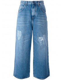 J.w.anderson - Cropped Distressed Jeans - Men - Cotton - 48 afbeelding