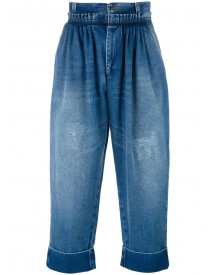 J.w.anderson - Cropped Pleated Front Jeans - Men - Cotton - 52 afbeelding