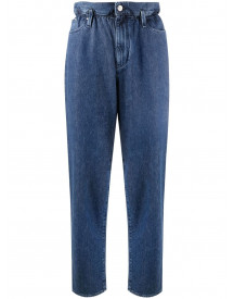 Karl Lagerfeld High-waisted Tapered Trousers - Blauw afbeelding