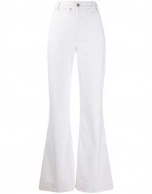 Katharine Hamnett London Flared Jeans - Wit afbeelding