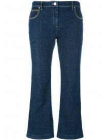 Kenzo - Cropped Flare Jeans - Women - Cotton/spandex/elastane/other Fibres - 36 afbeelding